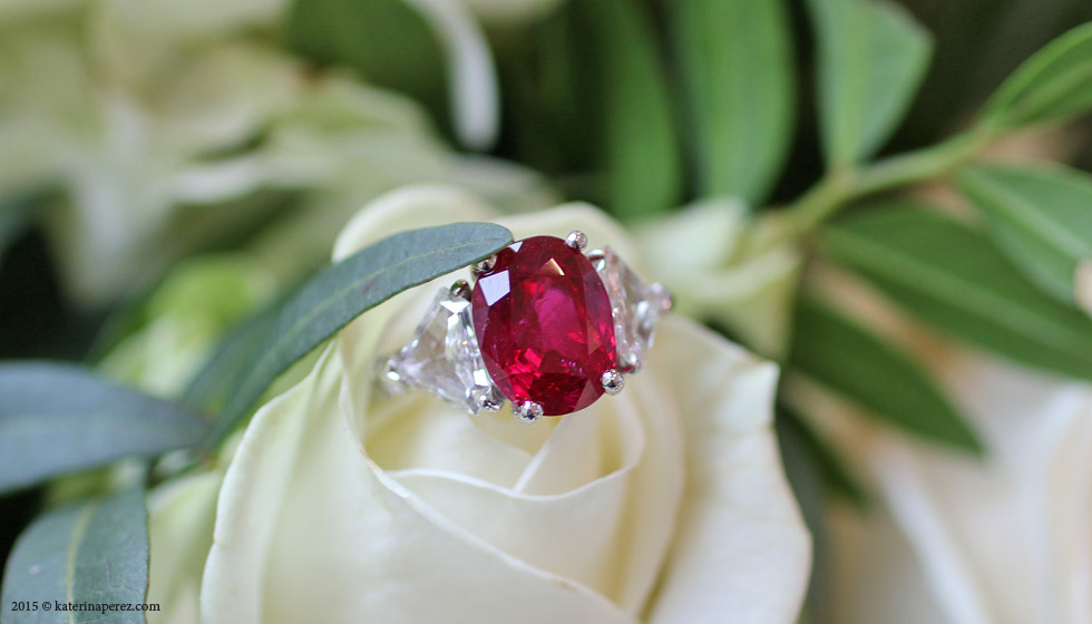 A 4.71 CTS RUBY AND DIAMOND RING BY GRAFF