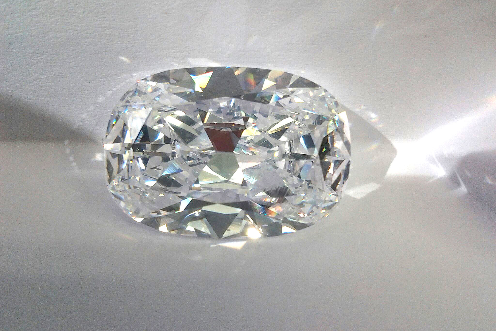 59.89ct brilliant cut cushion diamond