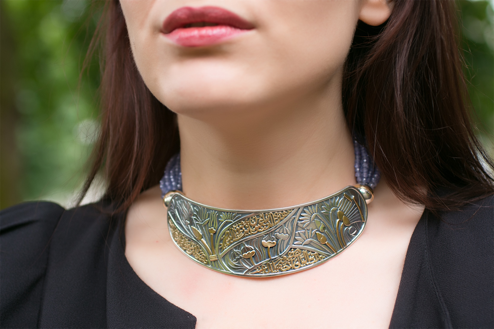 Azza Fahmy Birds of Paradise chocker from the Wonders of Nature collection