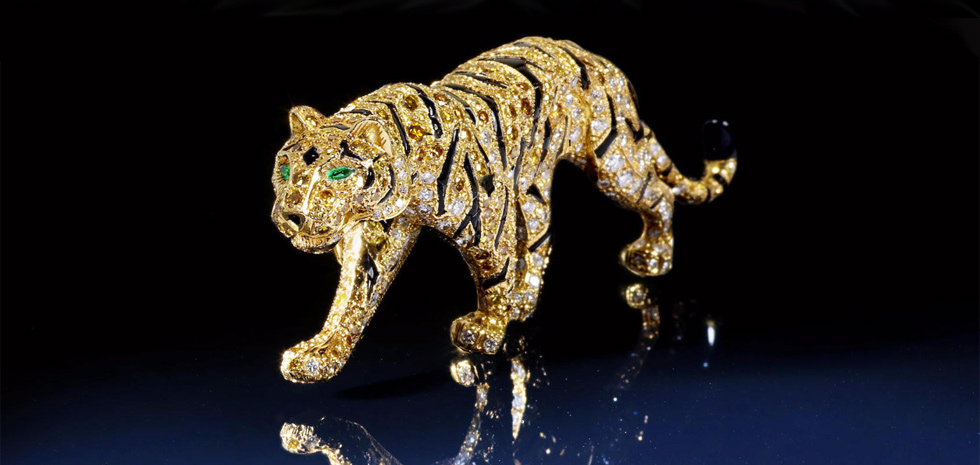 Tiger brooch from Cartier, created around 1990