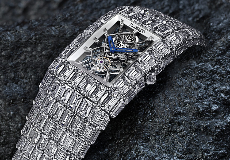 Billionaire timepiece with 260 carats of emerald-cut diamonds by Jacob&Co