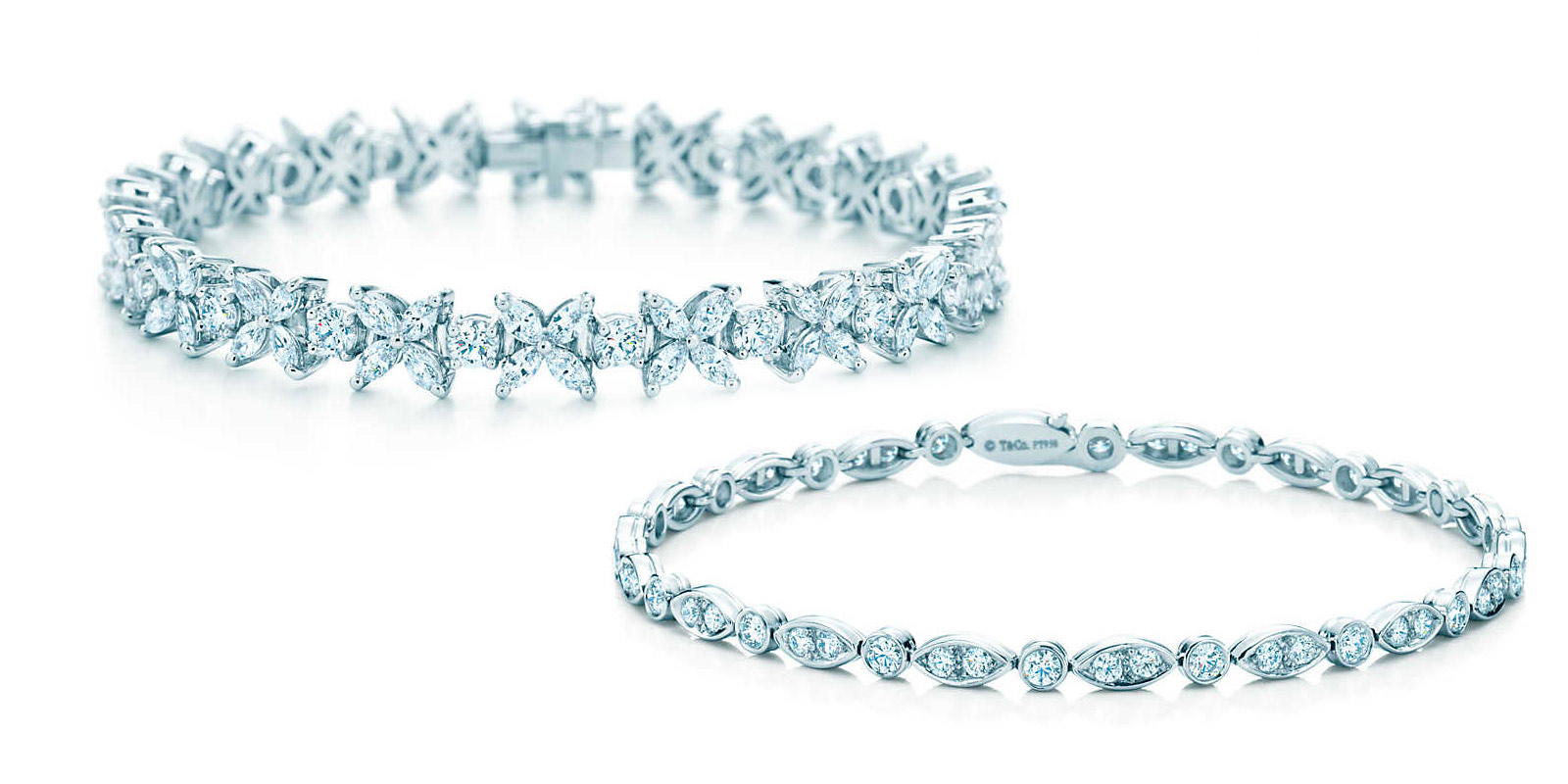 Tiffany&Co tennis bracelets in platinum and diamonds