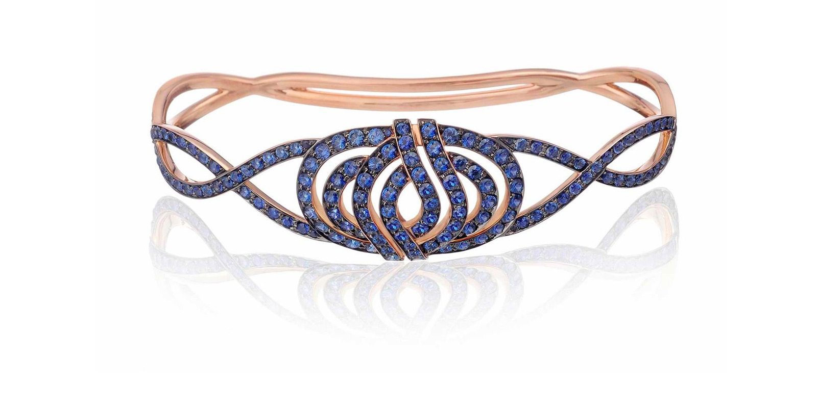 Lily Gabriella Infinitas palm bracelet with sapphires