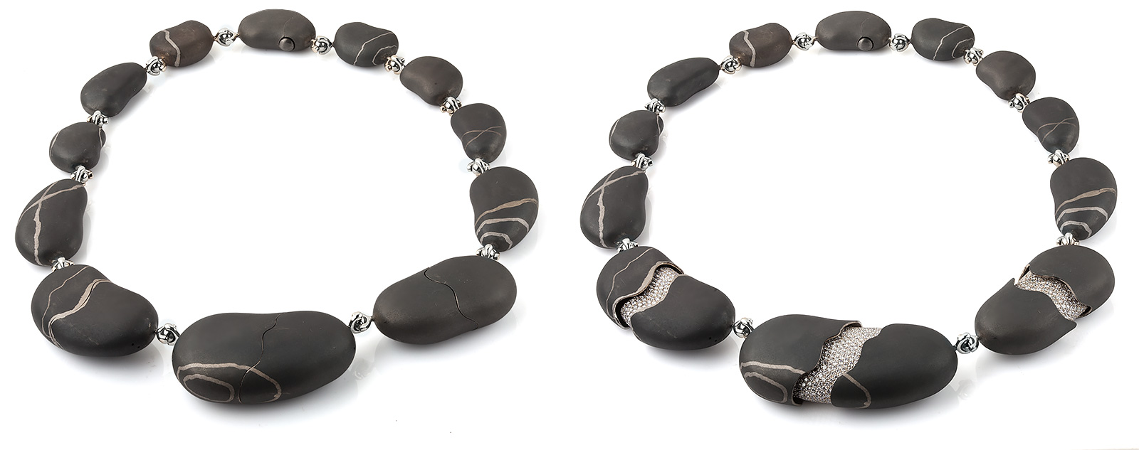 """Stones"" necklace by Markin Jewellery"