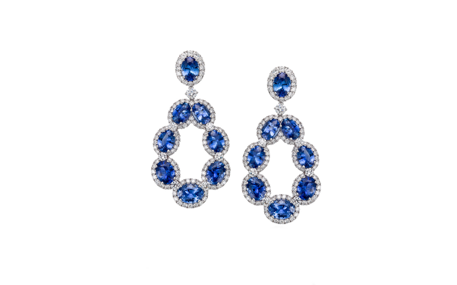 Picchiotti Shire And Diamond Wedding Day Earrings In Platinum From Bridal Collection