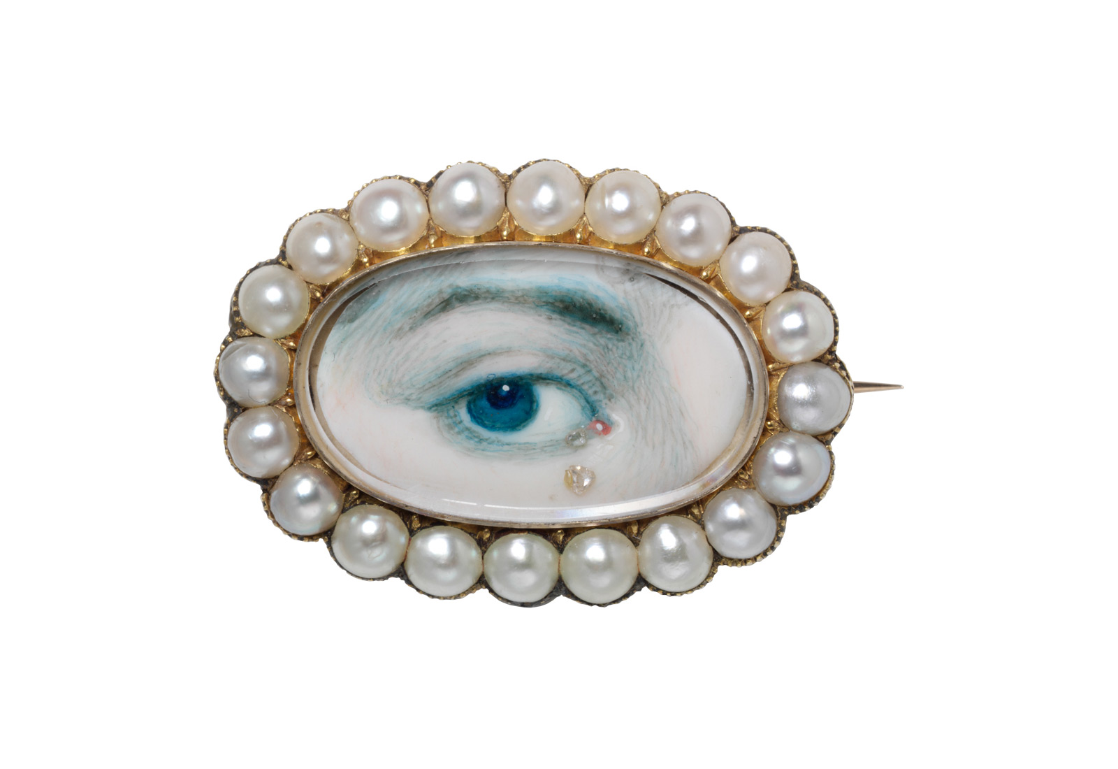 'Lover's Eye' brooch c. early 19th Century, displayed at Victoria and Albert Museum, London