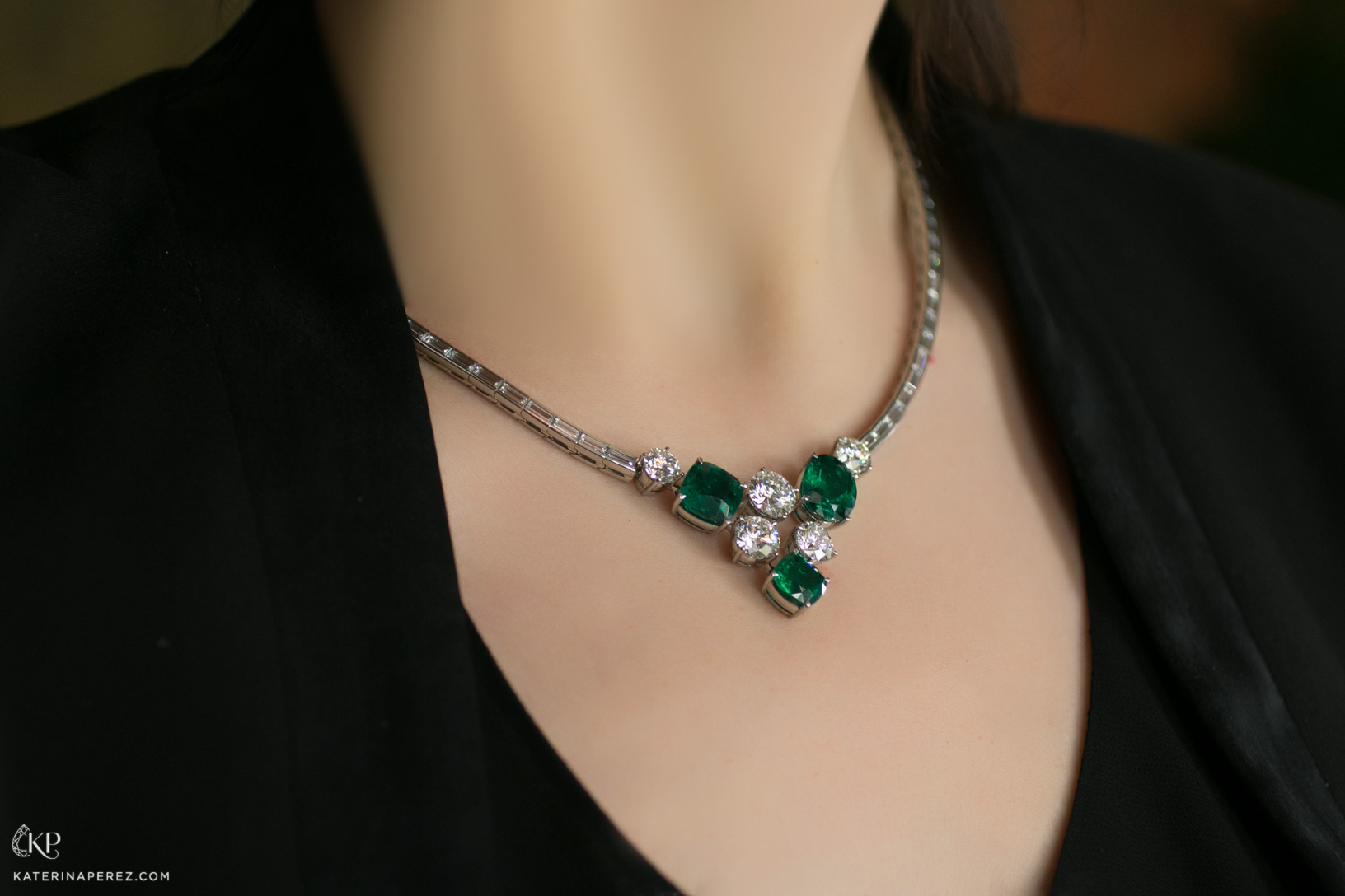 Gubelin Garden of Ease necklace with Colombian emeralds and diamonds