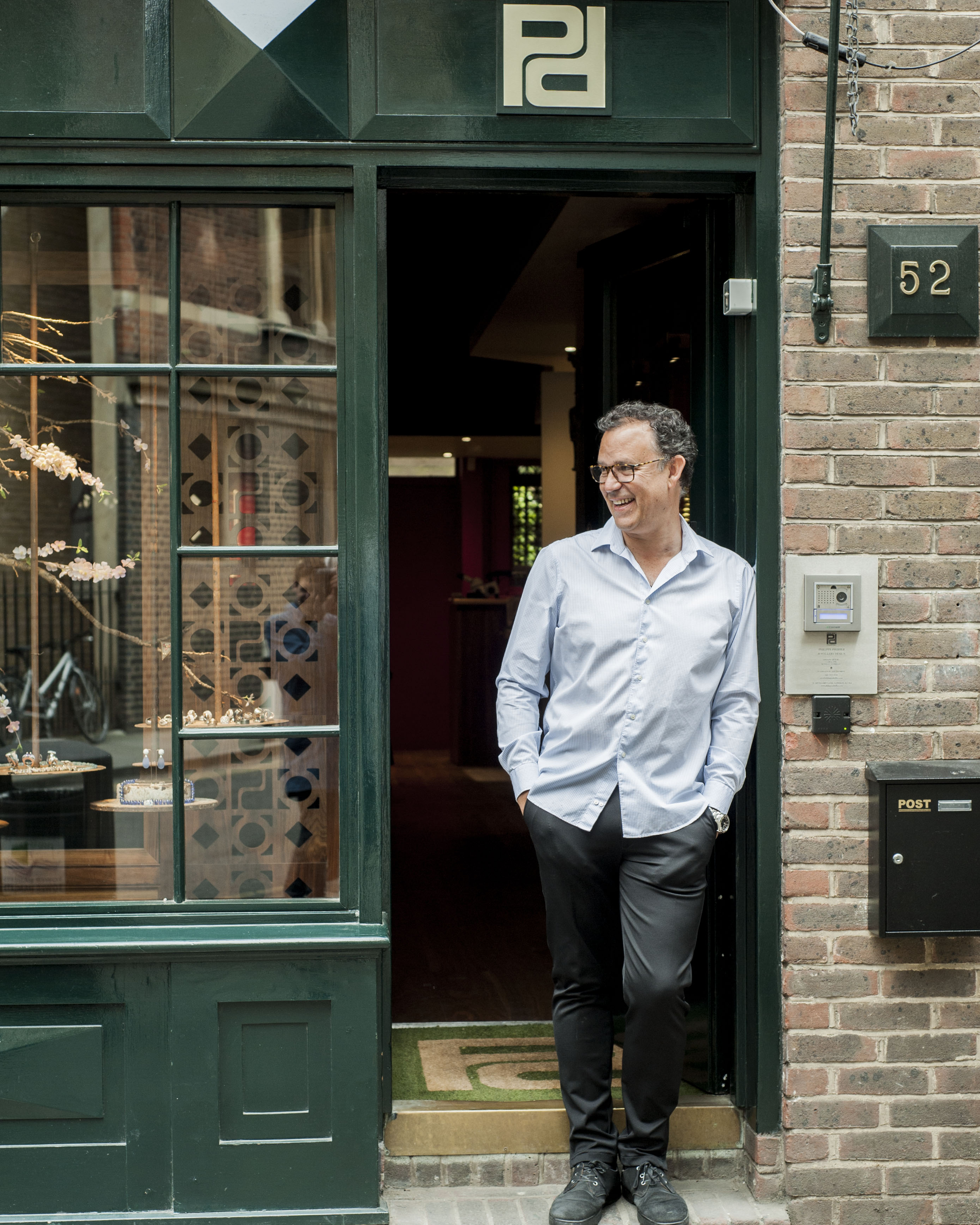 Philippe Pfeiffer at his London atelier on Artillery Lane