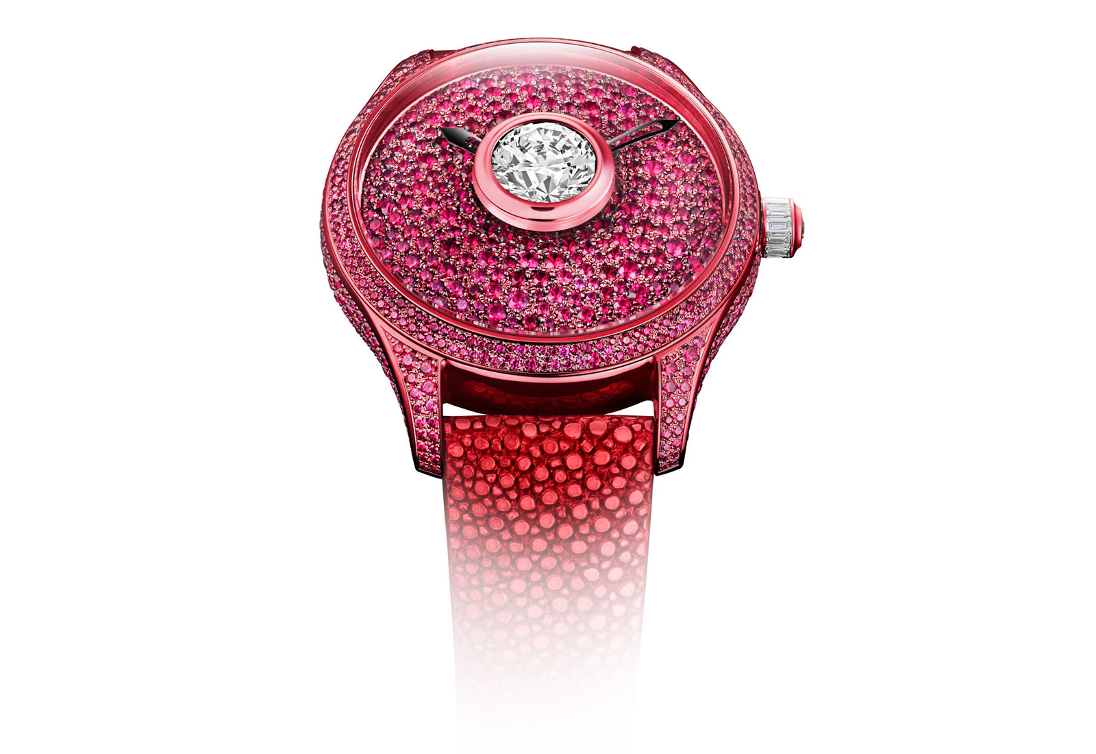 De Tournemire Rubis watch with rubies and diamonds