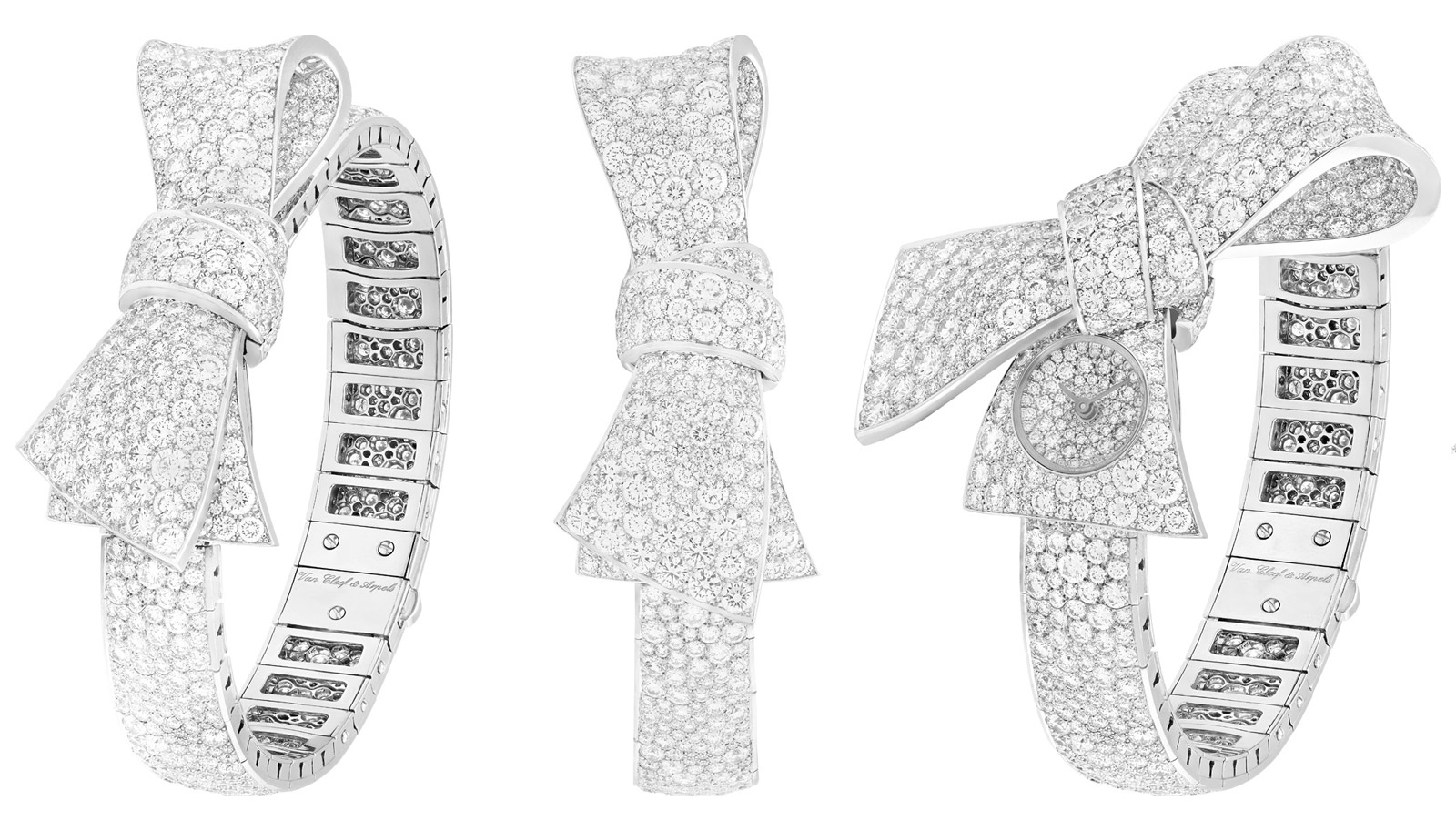 Van Cleef&Arpels Ruban watch paved with diamonds