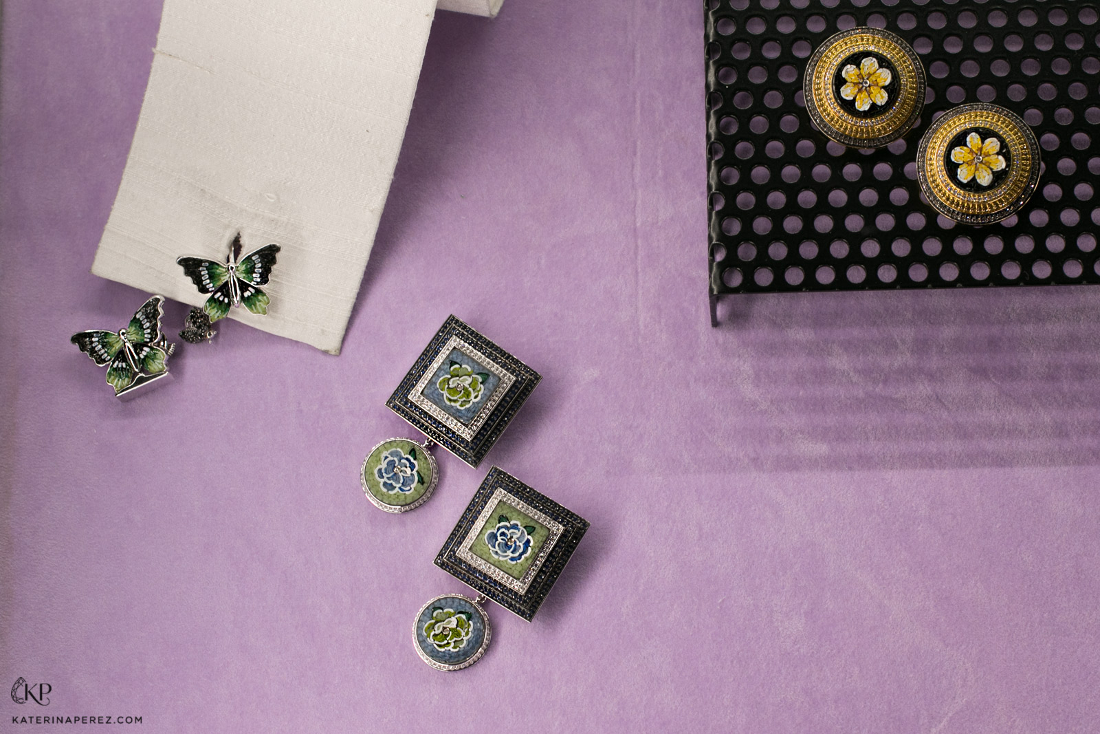 SICIS cufflinks with micromosaic