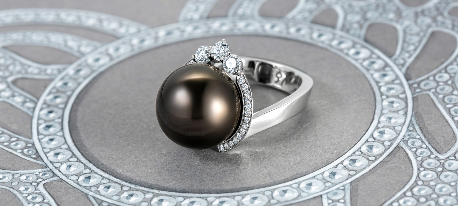 Podnebesnaya and Podnebesny. Pearls and gems ring