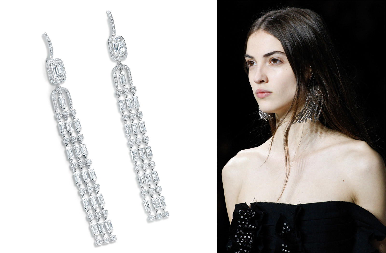 Boodles Ashoka diamond earrings from the Thrilliant collection