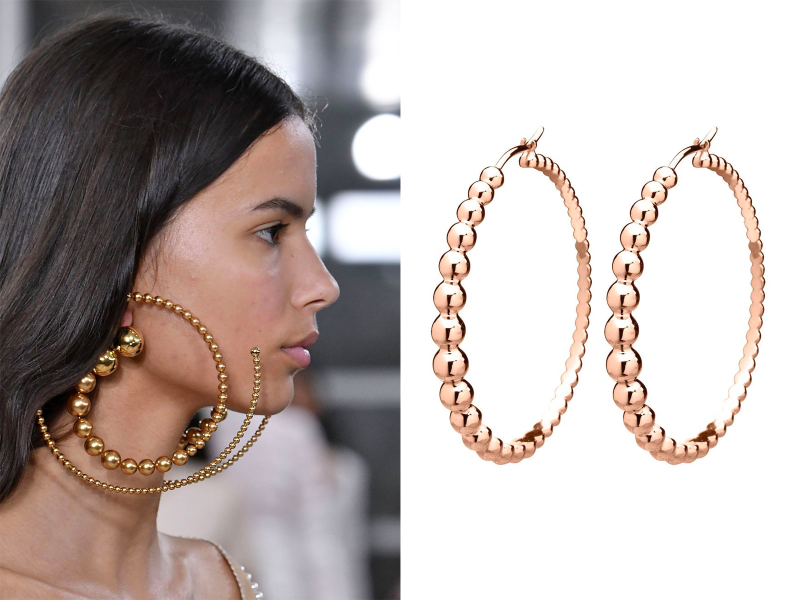 Y/Project earrings and Van Cleef&Arpels Perlee earrings