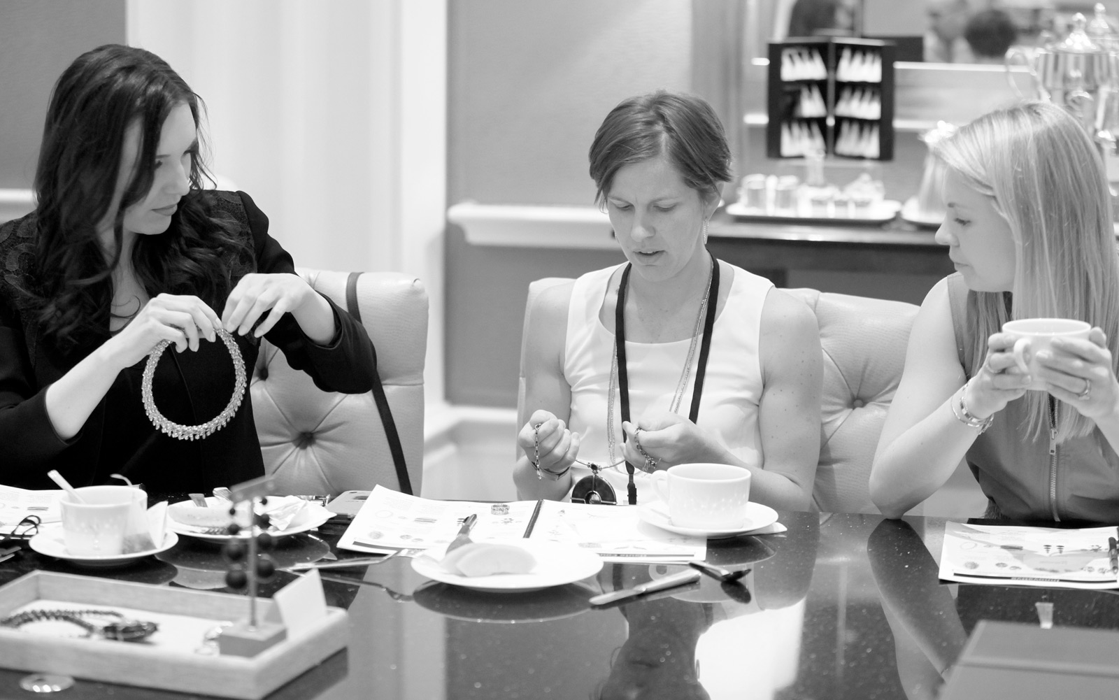 Katerina Perez, Julie Thom and Daisy Shaw judging Couture Design Awards