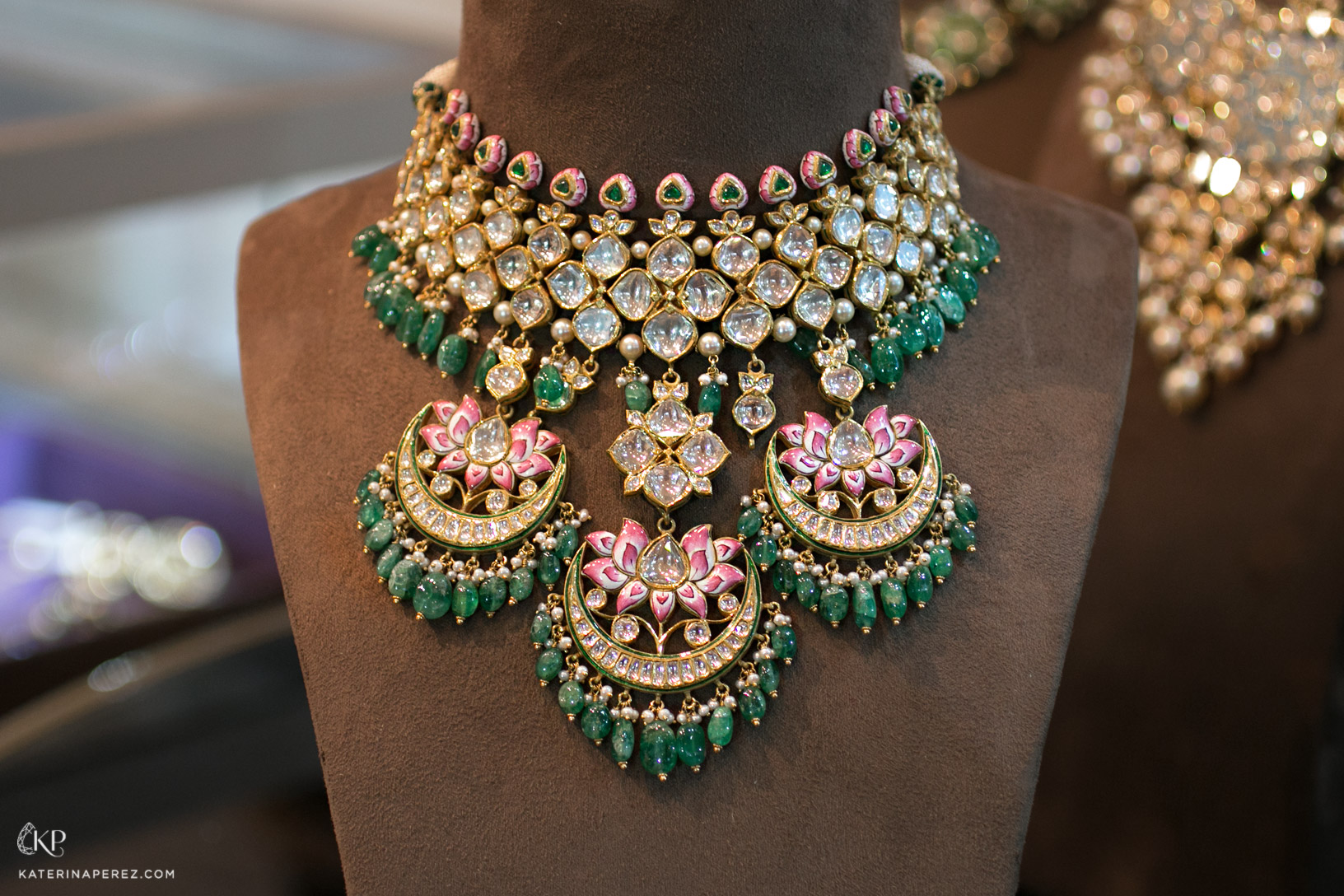 Sunita Shekhawat Padmapriya necklace with lotus flowers motifs