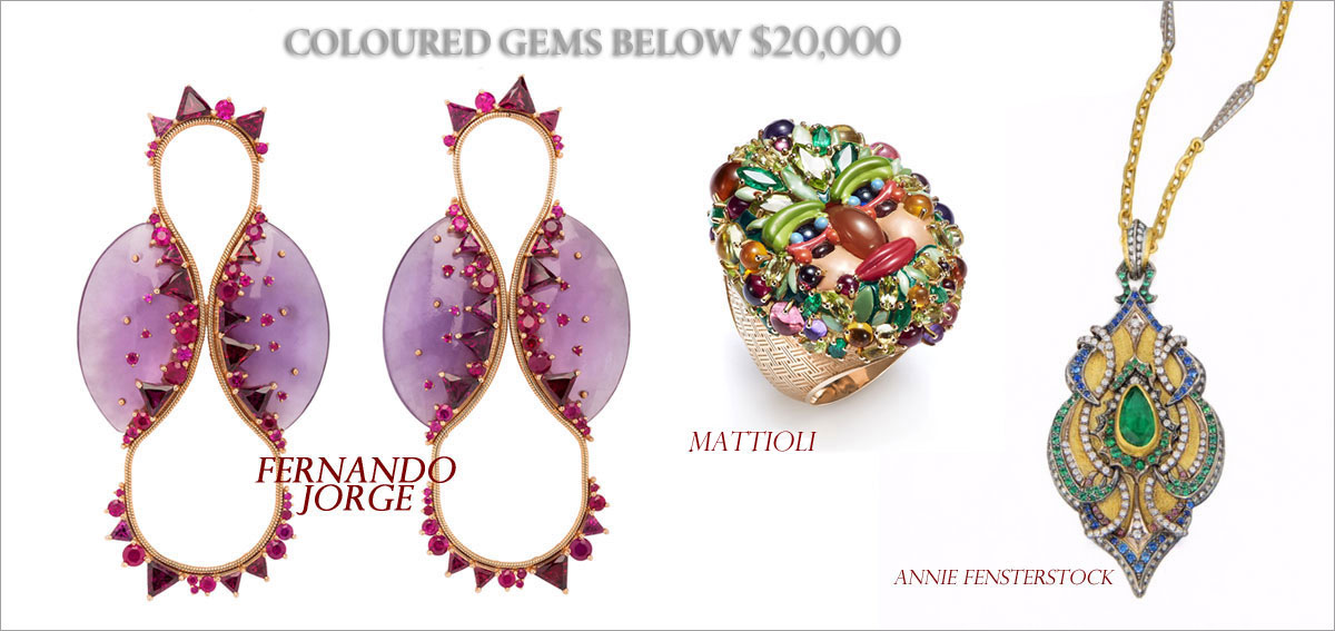 Colored Gems Below $20,000 // Winner: Fernando Jorge, First runner-up: Mattioli, Second runner-up: Annie Fensterstock