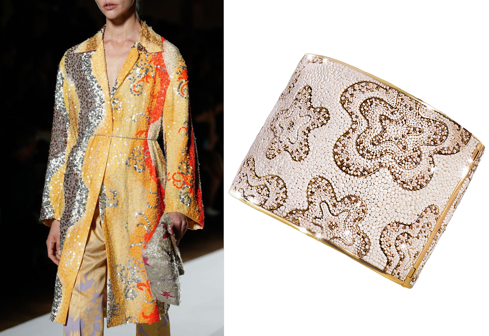 Dries Van Noten and SICIS 'Fiore' micromosaic cuff