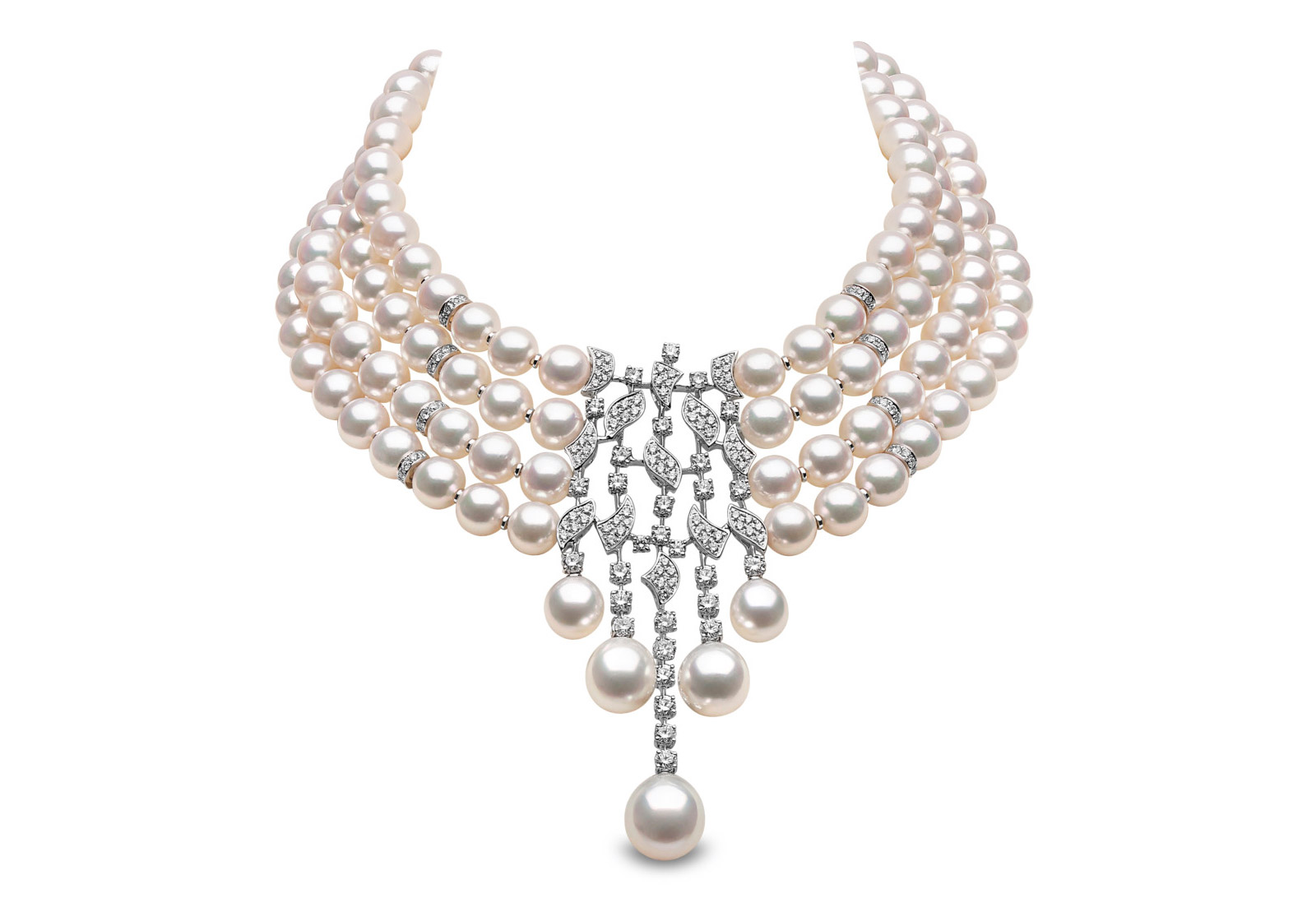 Yoko London chocker necklace with South Sea pearls and diamonds