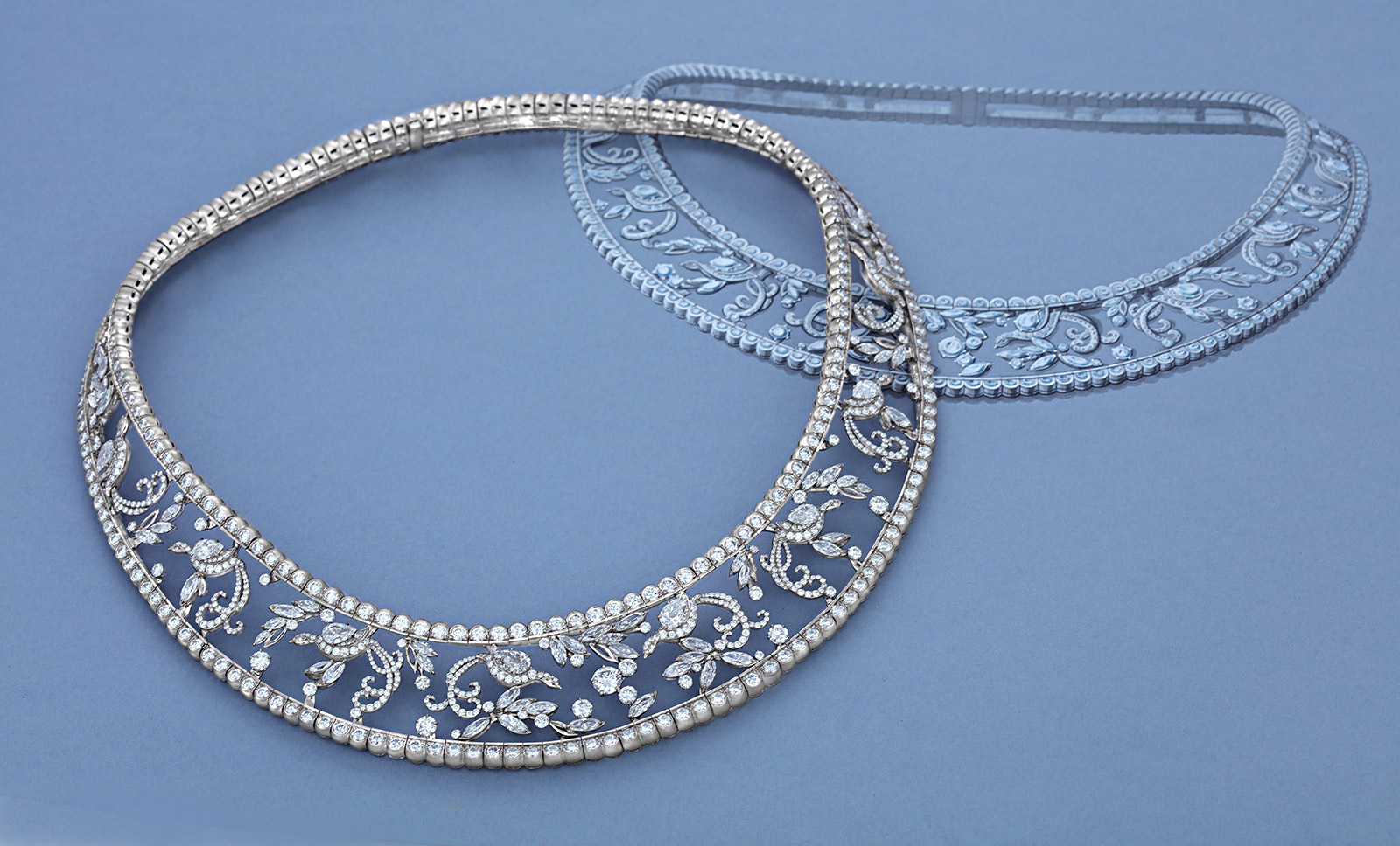 Liza Borzaya diamond collar necklace