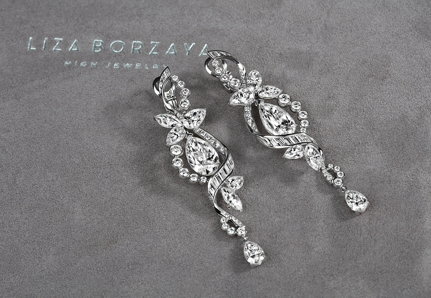 Liza Borzaya diamond earrings