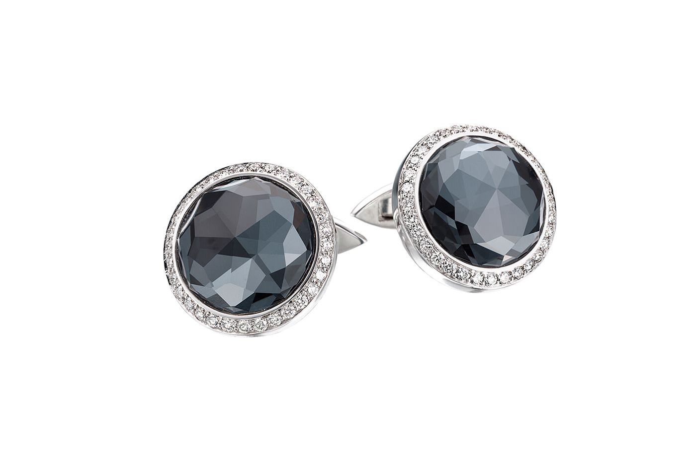 Stephen Webster 'Crystal Haze' cufflinks in white gold, topaz and diamonds