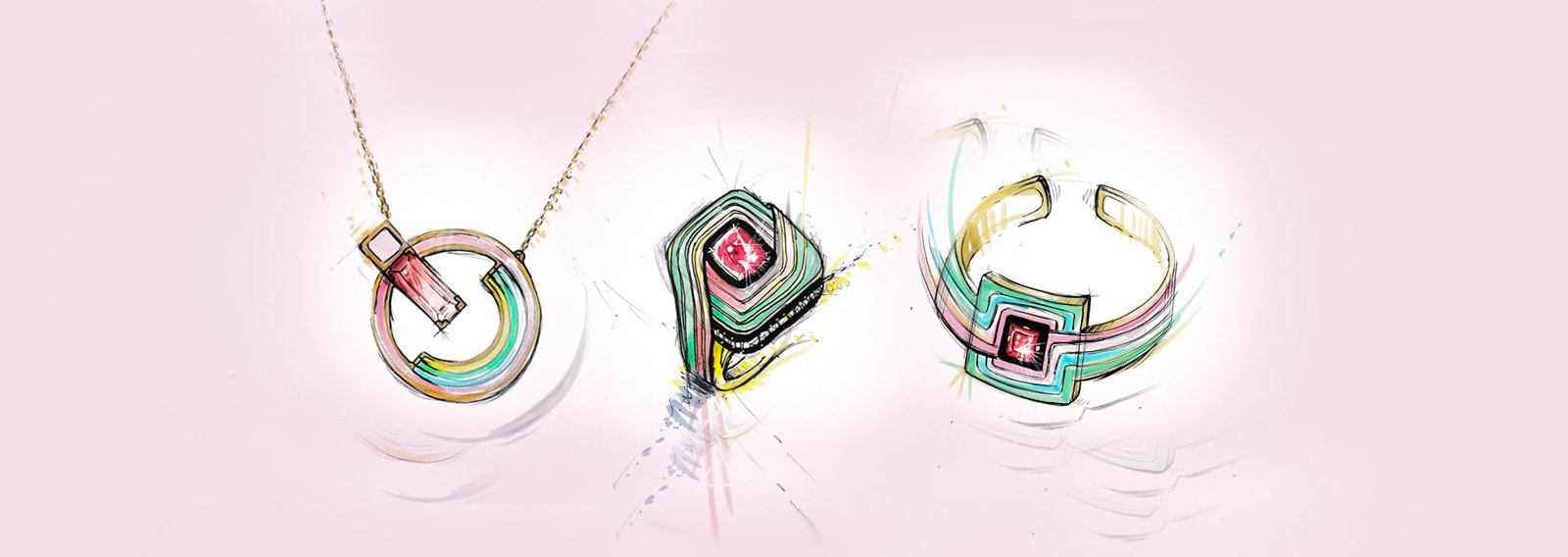 A selection of sketches from NUUN Jewels 'El Hada' collection