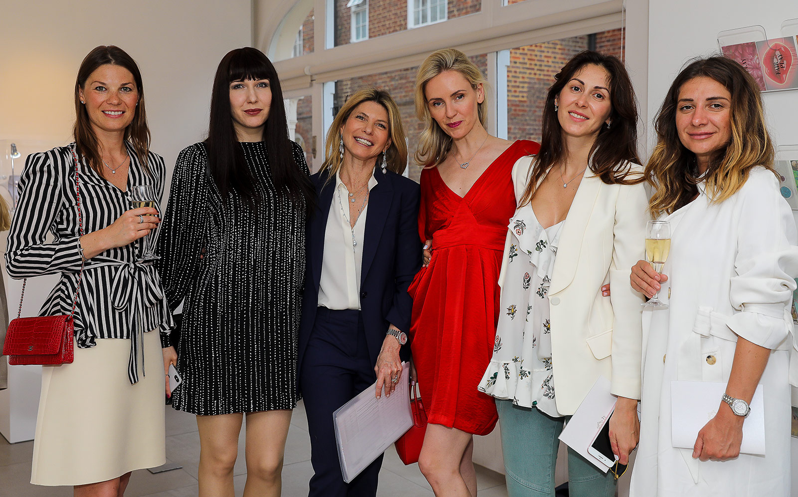Katerina Perez, Nadine Aysoy and guests at the exclusive presentation