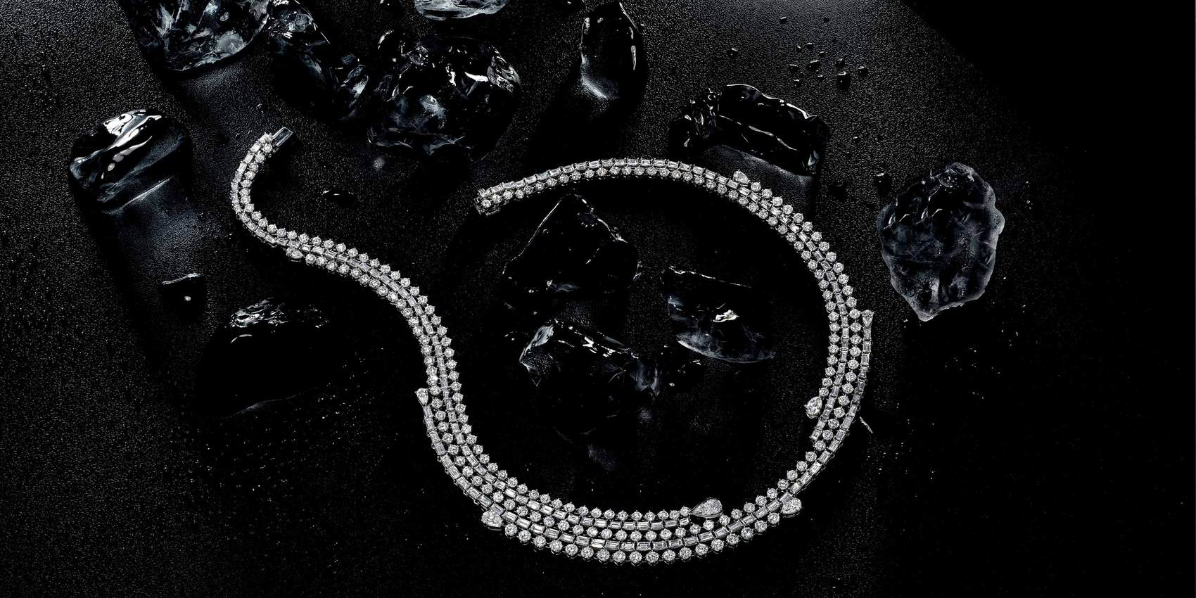 Storm diamond necklace from Iced Zeit collection by Stenzhorn
