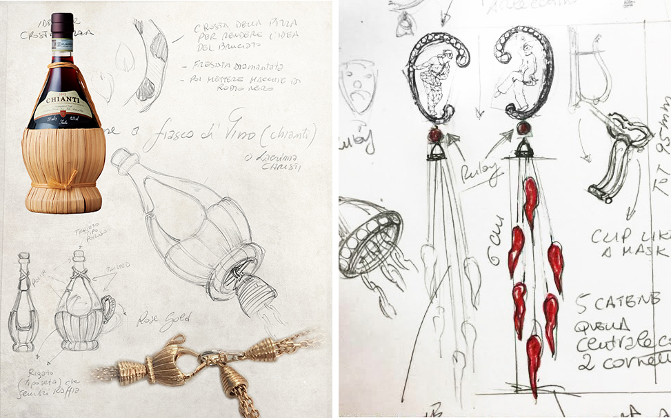 The creative process behind Alessio Boschi's 'Bella Napoli' necklace