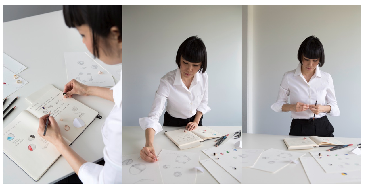Jewellery designer Yunjo Lee creating the B. Dimension collection for Bucherer