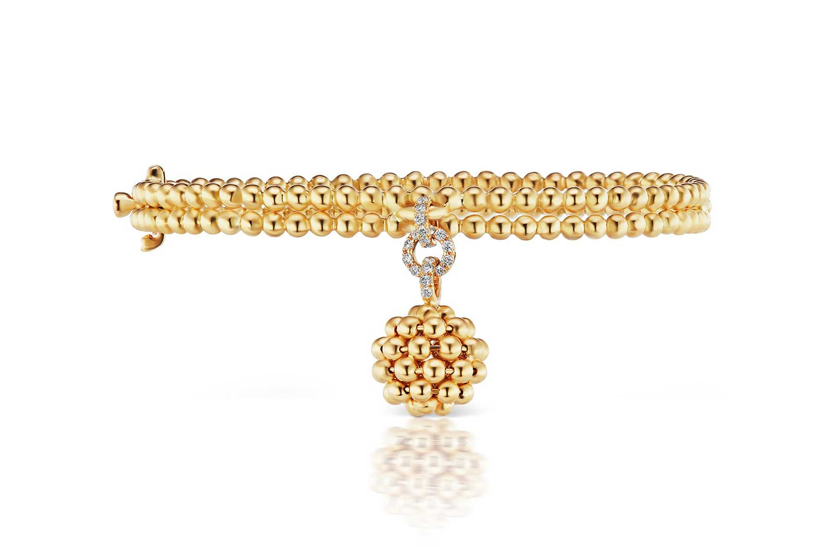 Maria Canale 'Flapper' collection bracelet with diamonds in 18k yellow gold