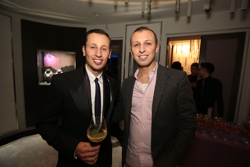 Mohamed and Majdy Shawesh at the boutique opening night in London
