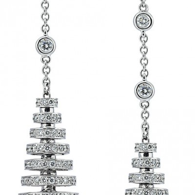 Avakian Riviera collection Earrings set with detachable Blue Sapphire charms and Diamonds