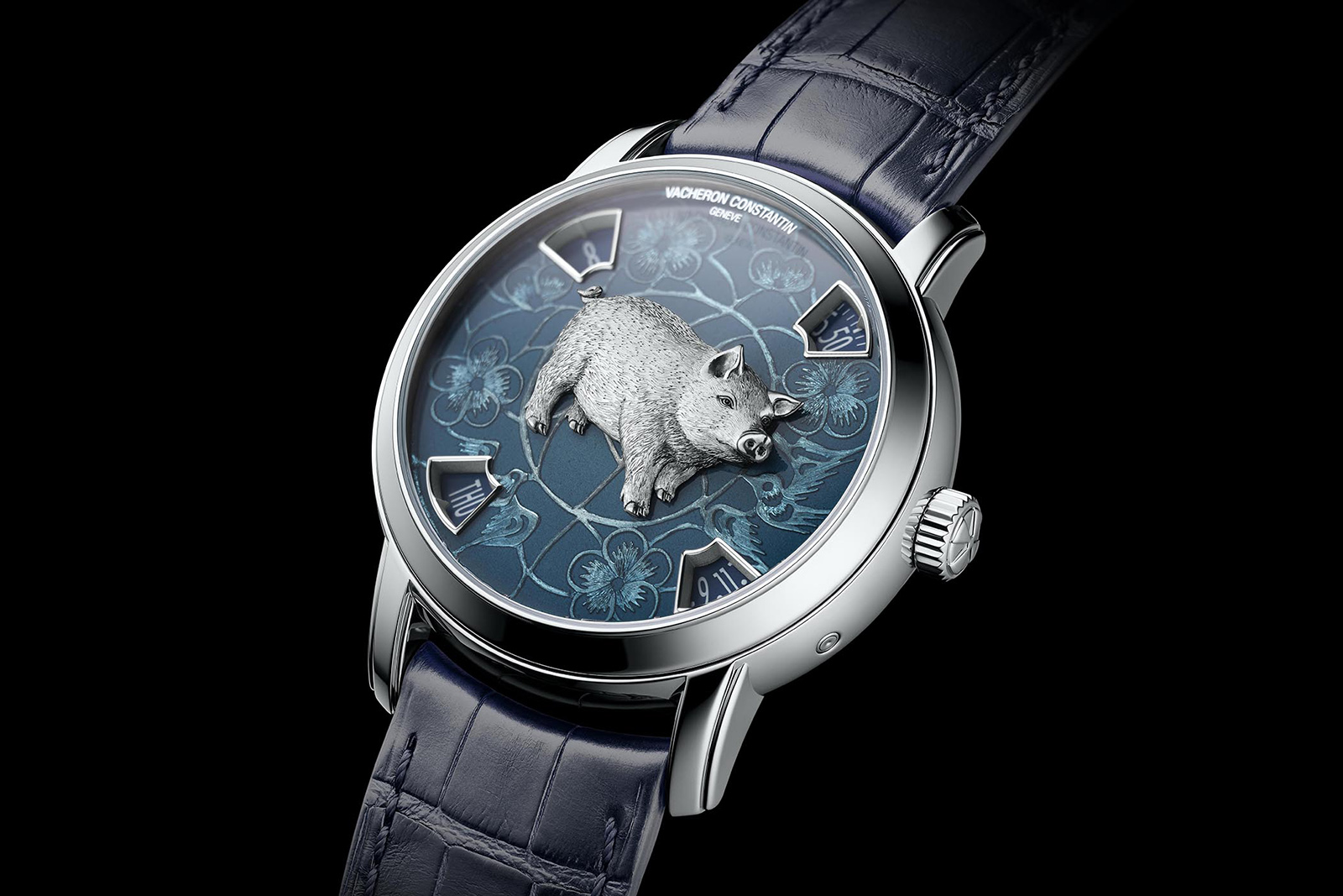 Vacheron Constantin 'Legend of the Chinese Zodiac' watch from the 'Métiers d'Art' collection with Grand Feu enamel in platinum and gold