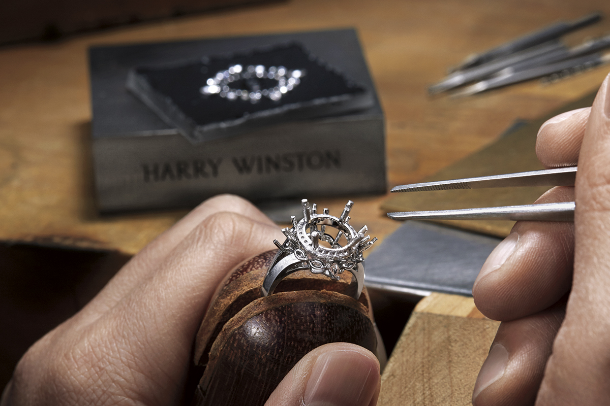 Unique diamond engagement rings by Harry Winston