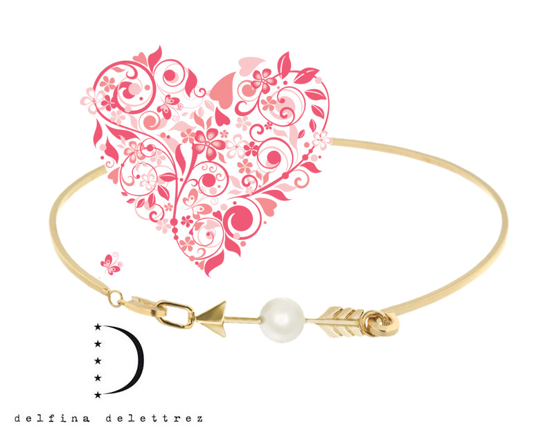 Delfina Delletrez gold bangle with a pearl