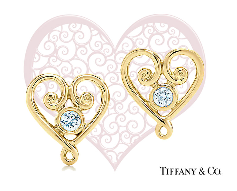 Tiffany&Co Goldoni earrings in yellow gold and diamonds