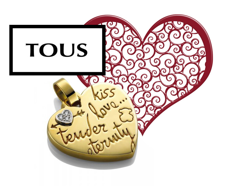 TOUS heart pendant in yellow gold and diamonds