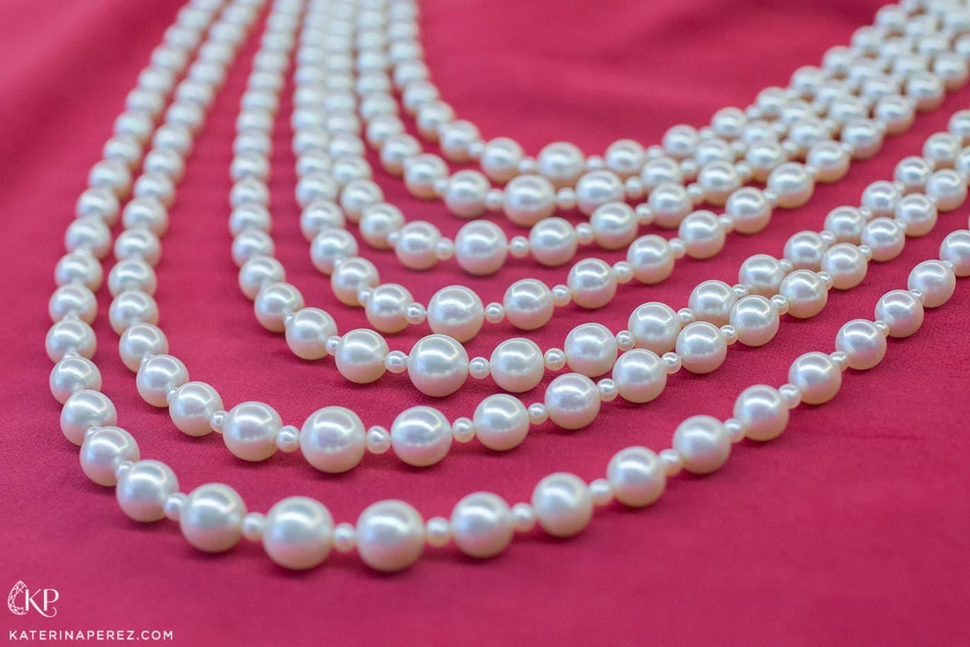 Выставка Christie's Magnificent Pearls - колье из натурального жемчуга