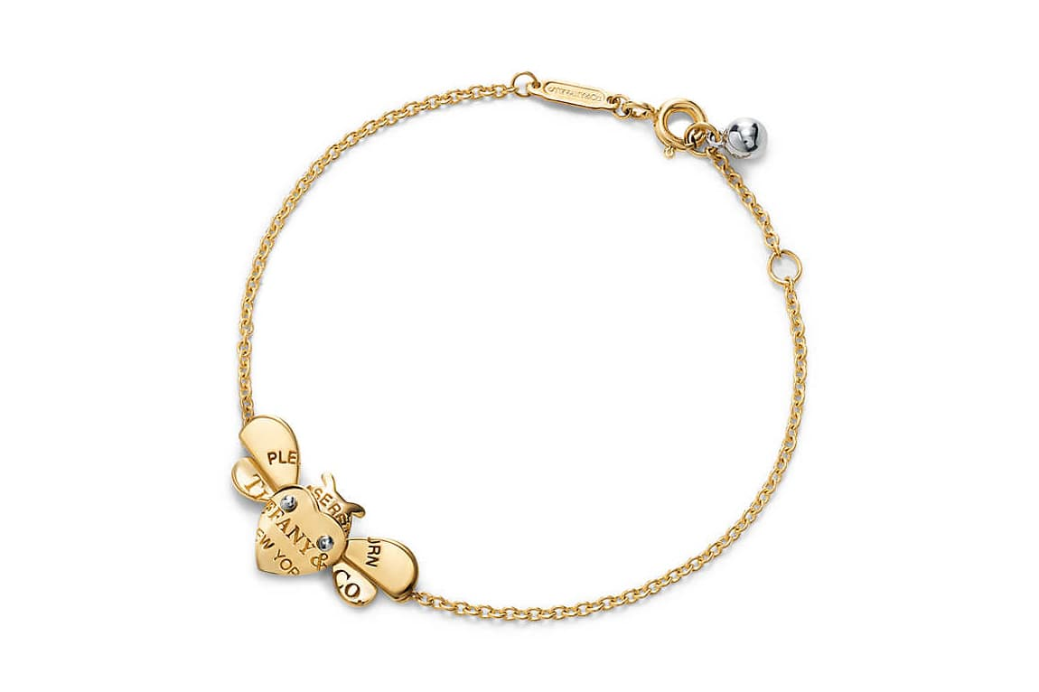 Tiffany&Co. 'Return to Tiffany Love Bugs' collection bracelet in yellow and white gold and silver
