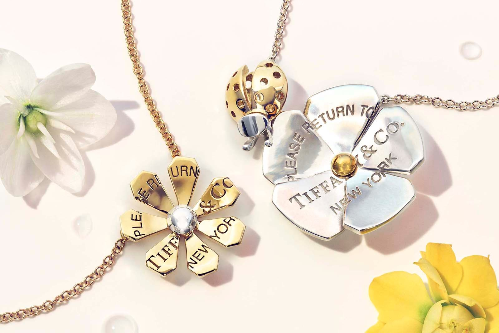 Tiffany&Co. 'Return to Tiffany Love Bugs' collection in yellow and white gold and silver