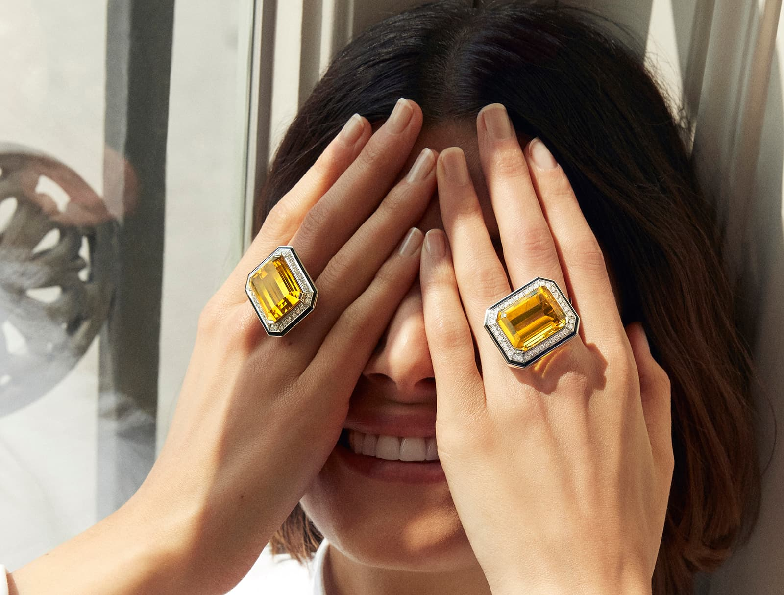 Boucheron 'Paris Vu Du 26' rings embellished with 31.03 and 32.50 yellow beryls