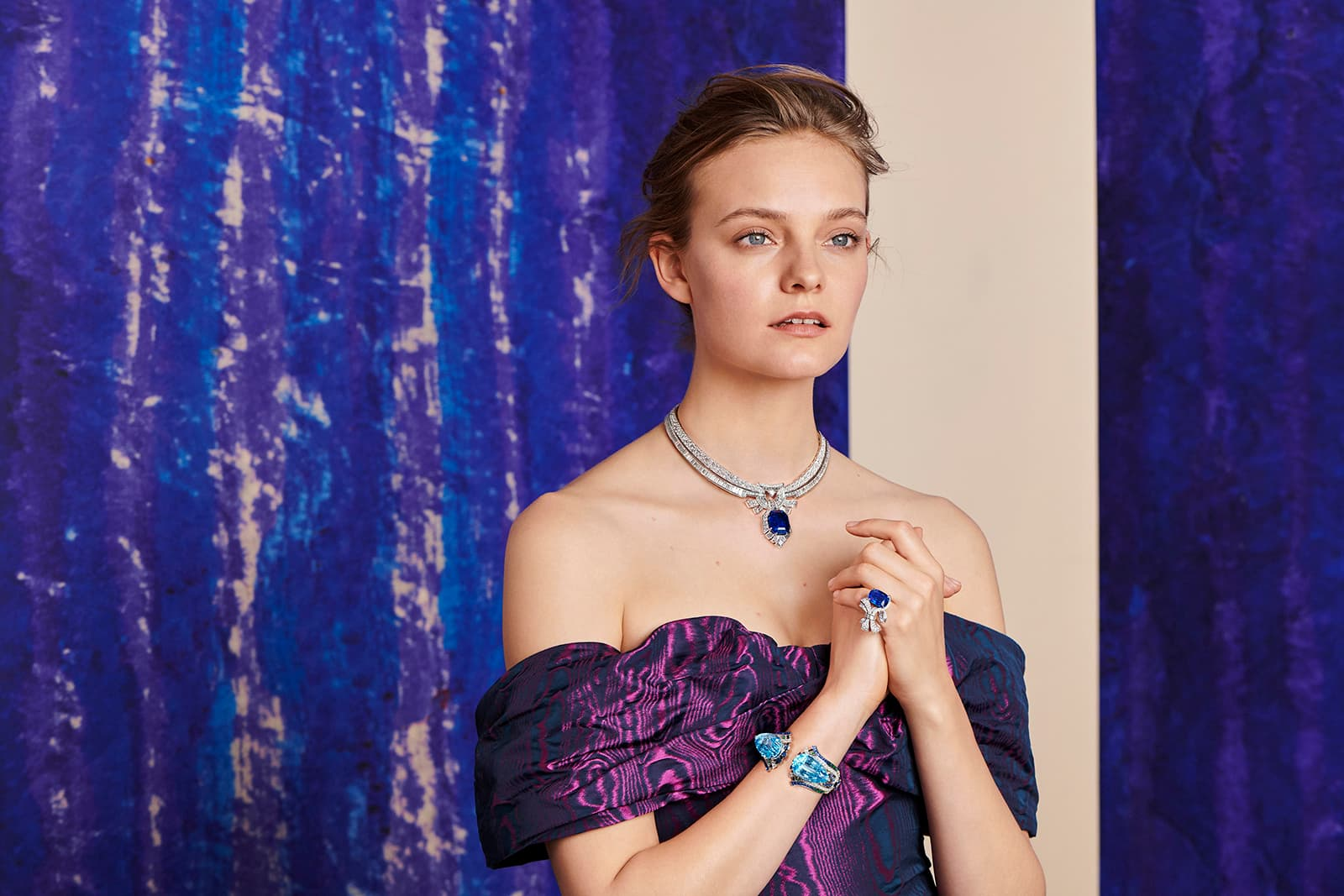 Van Cleef & Arpels 'Romeo and Juliet' collection 'Maiolika' necklace, ring and 'Fiore' bracelet