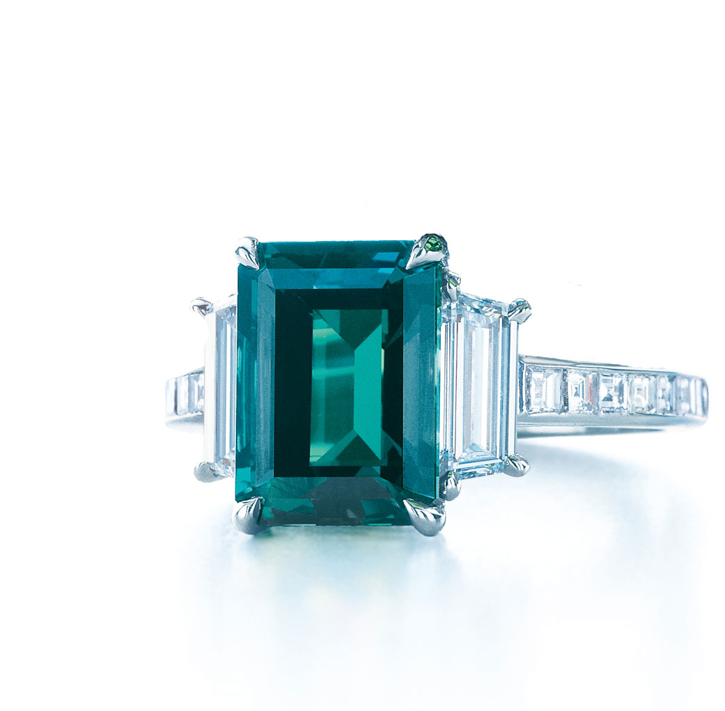 Tiffany&Co emerald cut Alexandrite ring