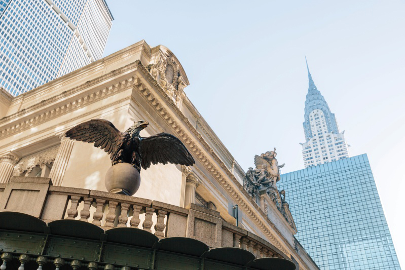 The Eagle figure at the entrance of the Grand Central Depot which inspired Harry Winston's eponymous line