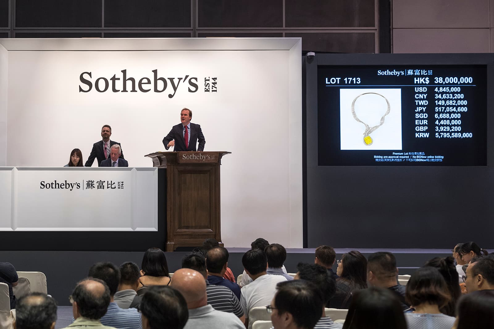 Anna Hu's 'Dunhuang Pipa' necklace selling at Sotheby's for US$5.78 million (HK$45.34 million)