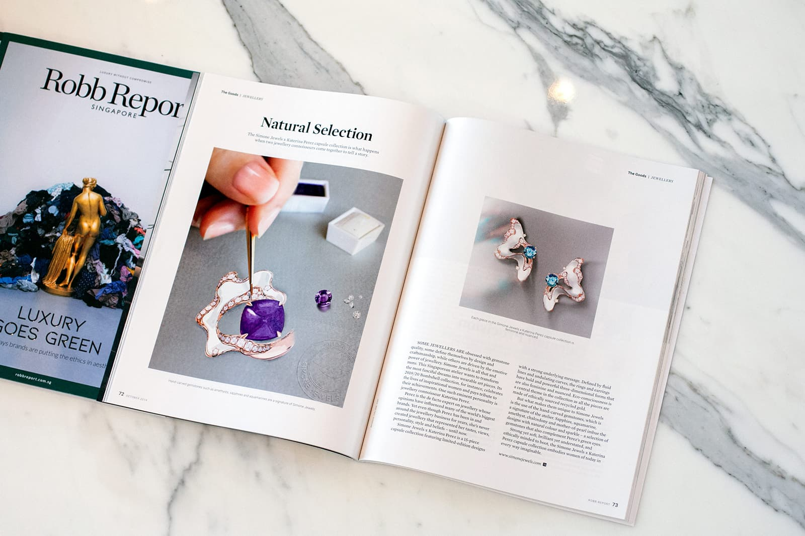 Robb Report Singapore Simone Ng 'Simone x KP' collection article