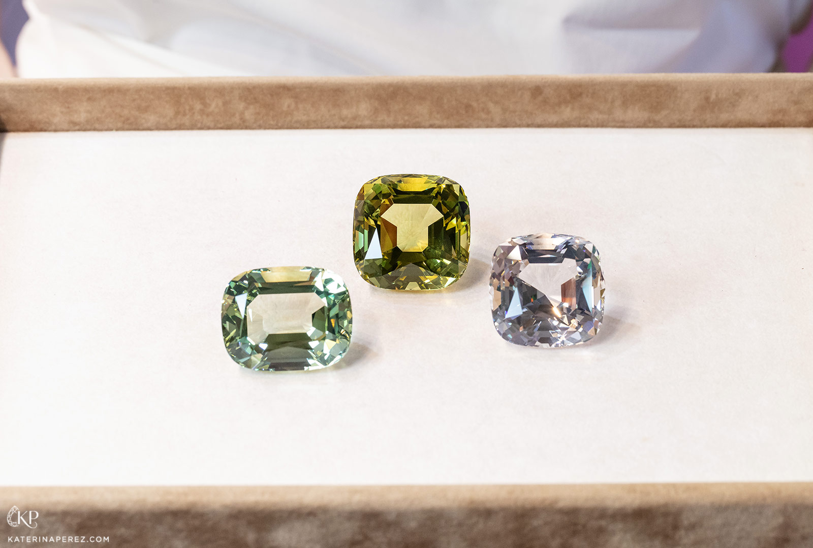 Nomad's Gems green beryl, heliodor and morganite