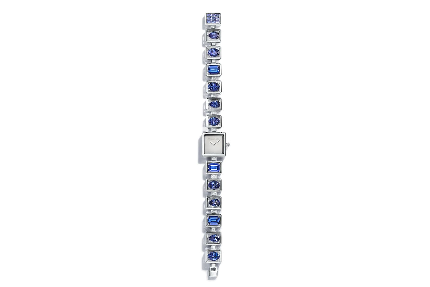Tiffany&Co. Blue Book 2019 collection watch with over 15ct tanzanites and diamonds in white gold